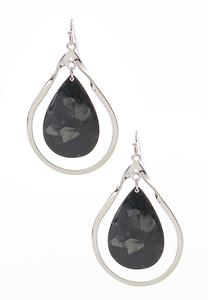 Lucite Cutout Dangle Earrings