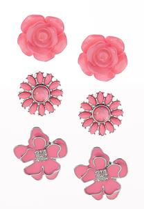 Button Earrings Set