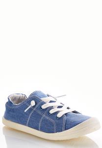 Denim Scrunch Sneakers