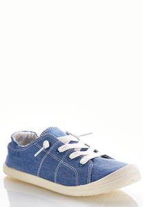 Denim Scrunch Sneakers