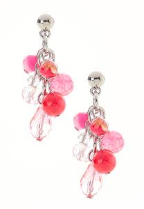 Shaky Pink Bead Earrings