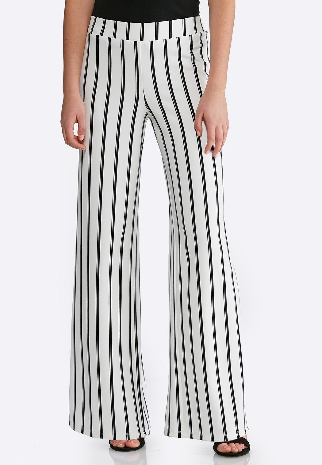 335ebc4a91f5f4 Striped Palazzo Pants Pants Cato Fashions