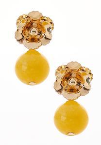 Flower Bead Dangle Earrings