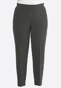 Plus Size Contrast Striped Pants