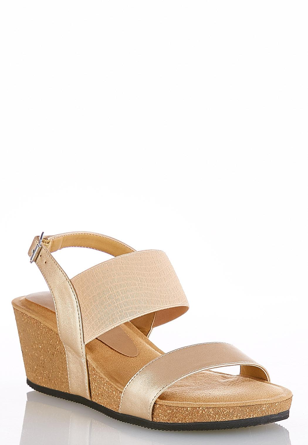 0f3600cb8 Stretch Band Cork Wedges Wedges Cato Fashions