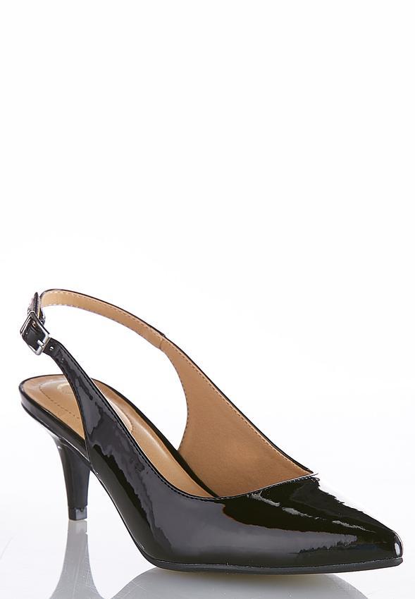 9c1c2cd3cf5 Patent Slingback Pumps Heels Cato Fashions