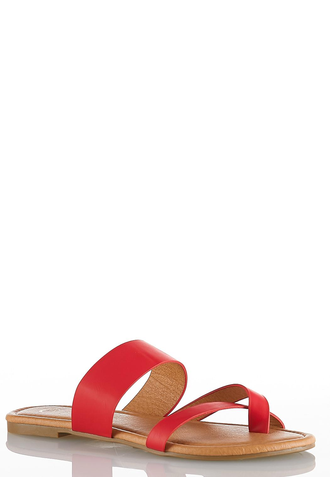 Cross Band Toe Loop Sandals