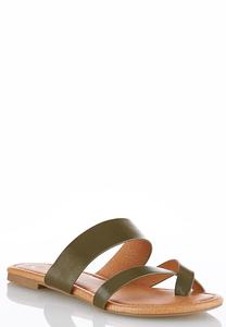Cross Band Toe Loop Sandals