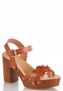 Braided Strap Platform Sandals