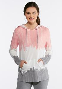Plus Size Tie Dye French Terry Hoodie