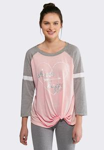 Plus Size Choose Happy Knotted Tee