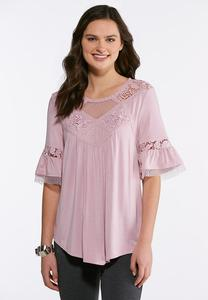 Mesh Lace Poet Top