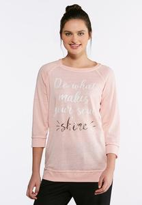 Plus Size Soul Shine Graphic Sweatshirt