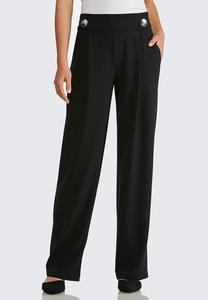 Button Front Trouser Pants
