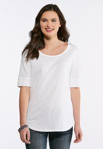 Elbow Sleeve Solid Tee