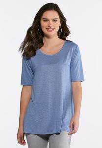 Plus Size Solid Swing Tee