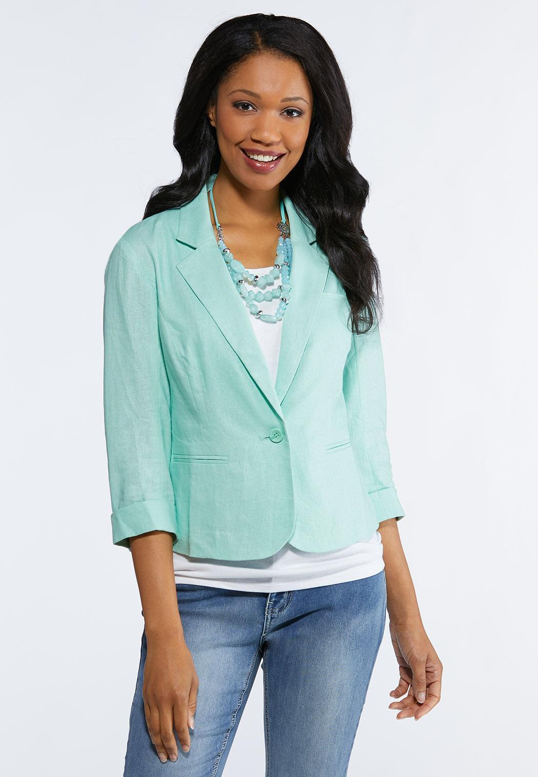 Plus Size Essential Linen Blazer