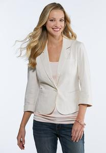 Plus Size Essential Linen Blazer