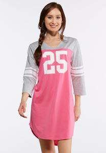 Sporty Colorblock Sleep Shirt