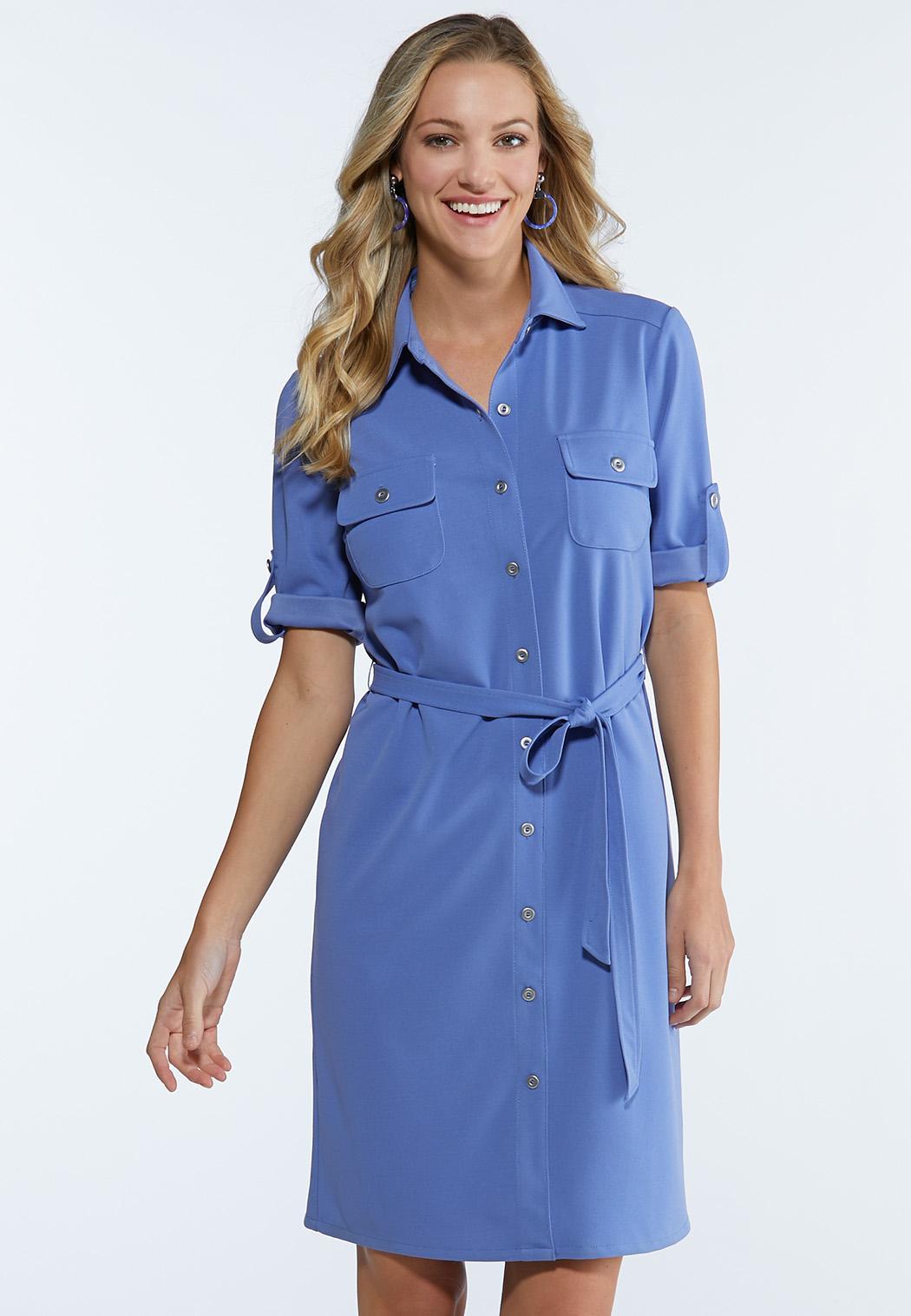 Plus Size Tie Waist Shirt Dress Plus Sizes Cato Fashions