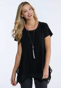 Chiffon Sharkbite Trim Top