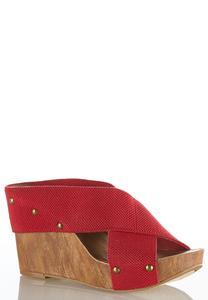 Crossband Wedge Sandals