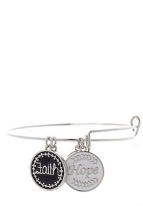 Faith Hope Charm Bracelet
