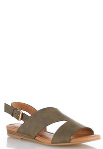 Asymmetric Slingback Sandals