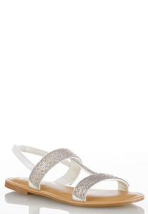 Embellished Slingback Sandals