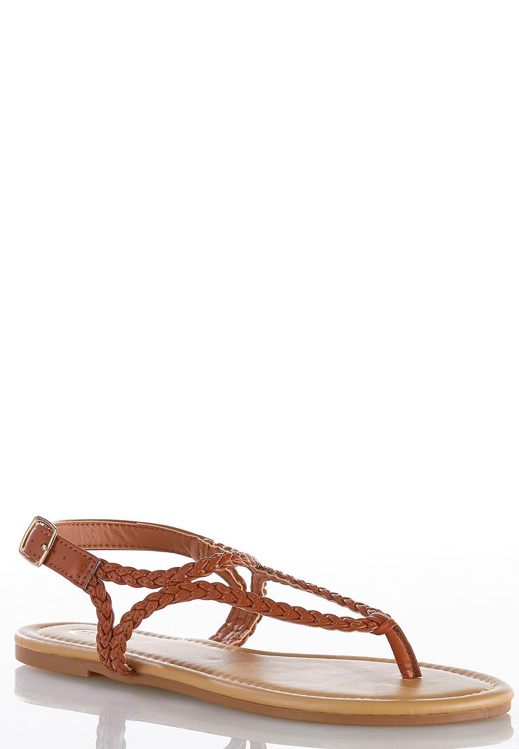 Braided Slingback Sandals