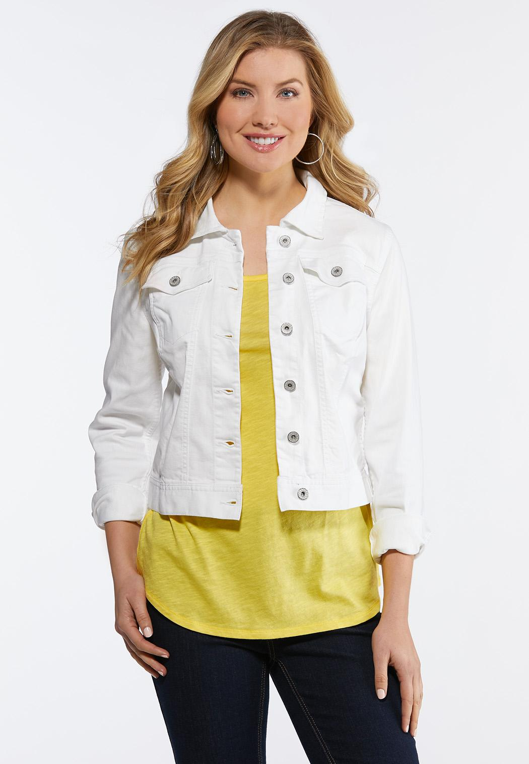 4bcbd31807e White Denim Jacket alternate view White Denim Jacket