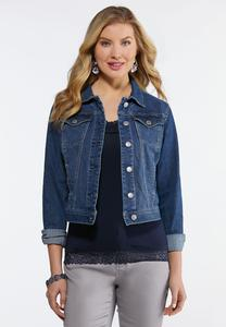Plus Size Essential Blue Denim Jacket
