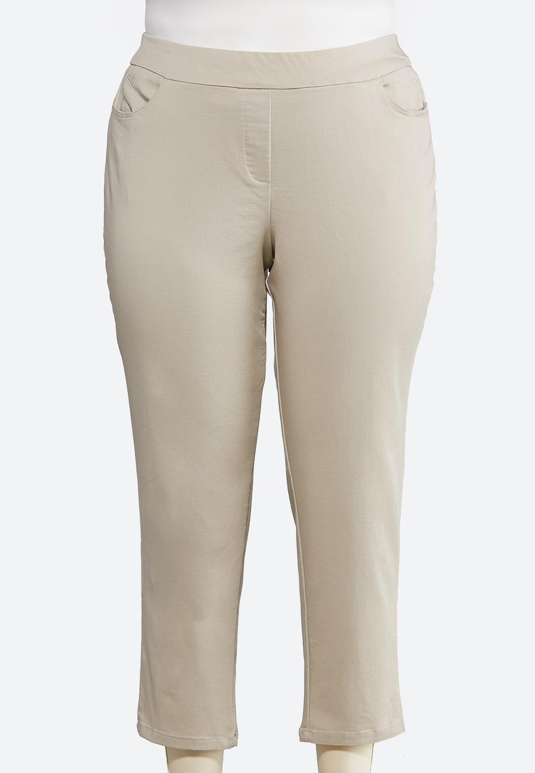 Plus Size Pull-On Ankle Pants Pants Cato Fashions