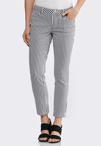Striped Ankle Jeans