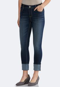 Red Tap Ankle Cuff Jeans