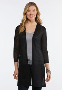 Plus Size Sheer Solid Duster