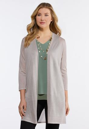 Sheer Taupe Duster Cardigan