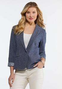 Blue Crosshatch Blazer