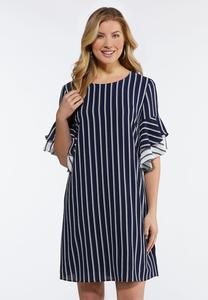 Plus Size Nautical Stripe Dress