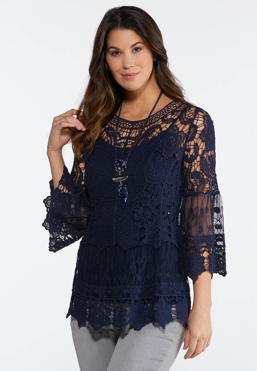 Crochet Mesh Pullover Top