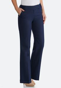 Navy Linen Trouser Pants