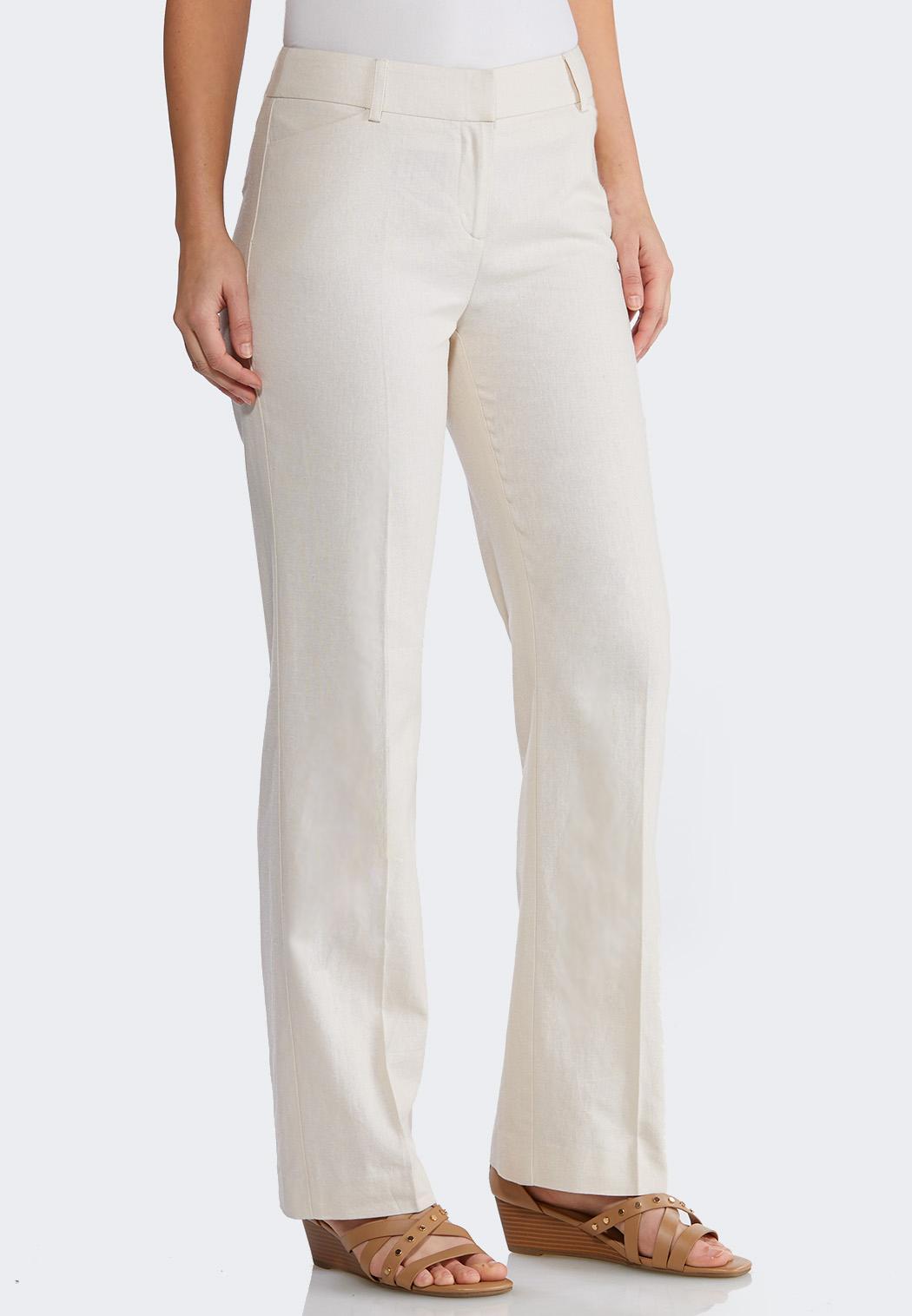 Petite Linen Trouser Pants