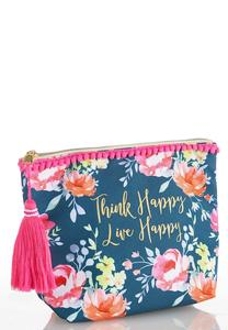 Think Happy Floral Pouch