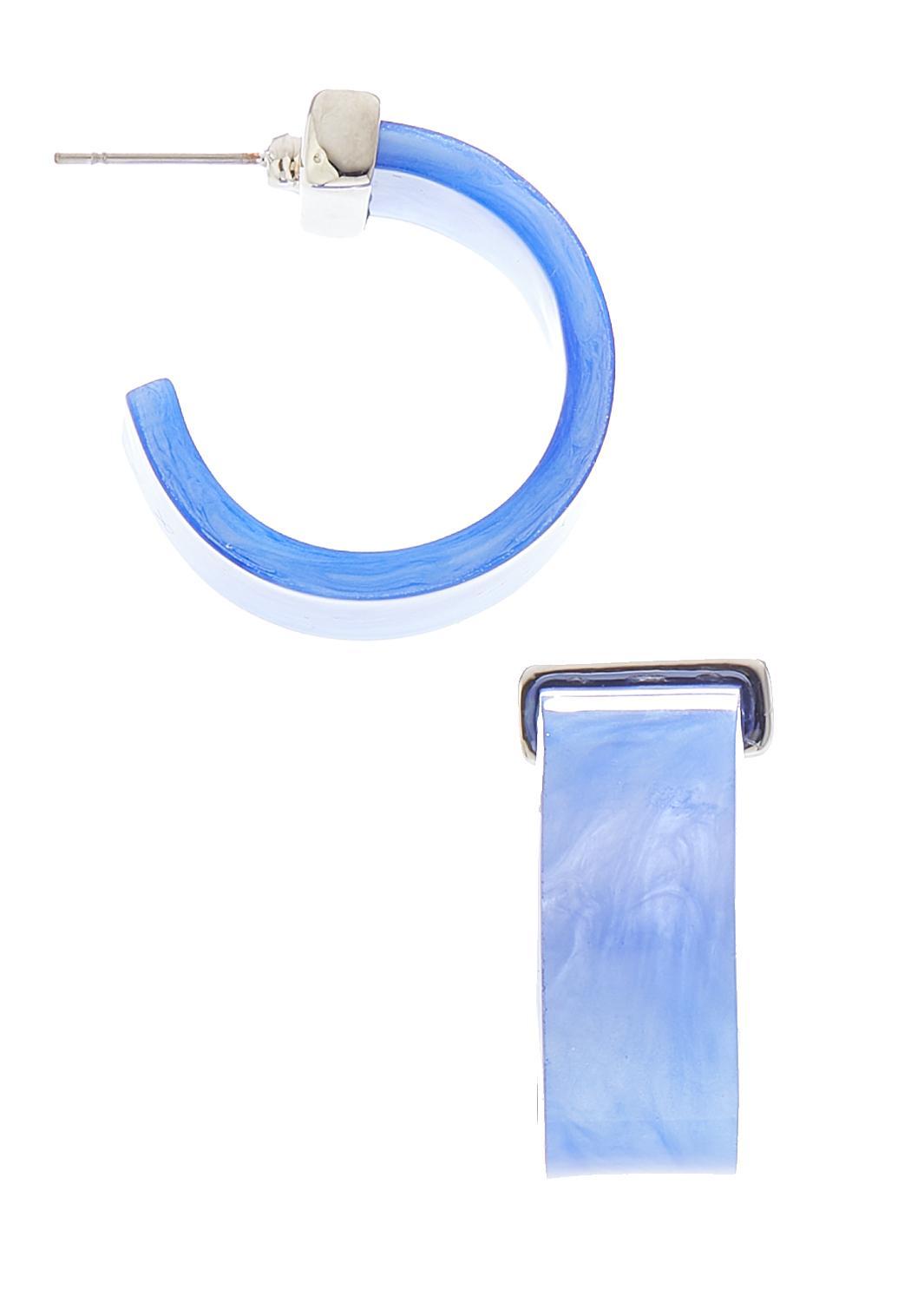 Lucite Flat Hoop Earrings