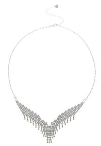 Cupchain Fringe V Necklace