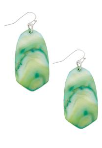 Marble Shell Dangle Earrings
