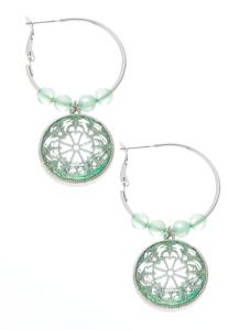 Beaded Filigree Hoop Earrings