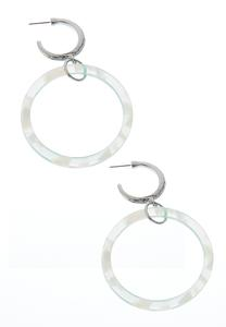 Lucite Hoop Metal Ring Earrings
