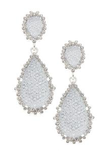 Statement Rhinestone Tear Earrings