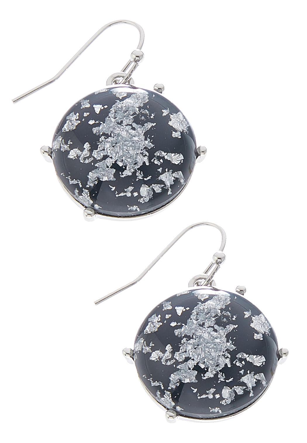 Glitter Speck Stone Earrings
